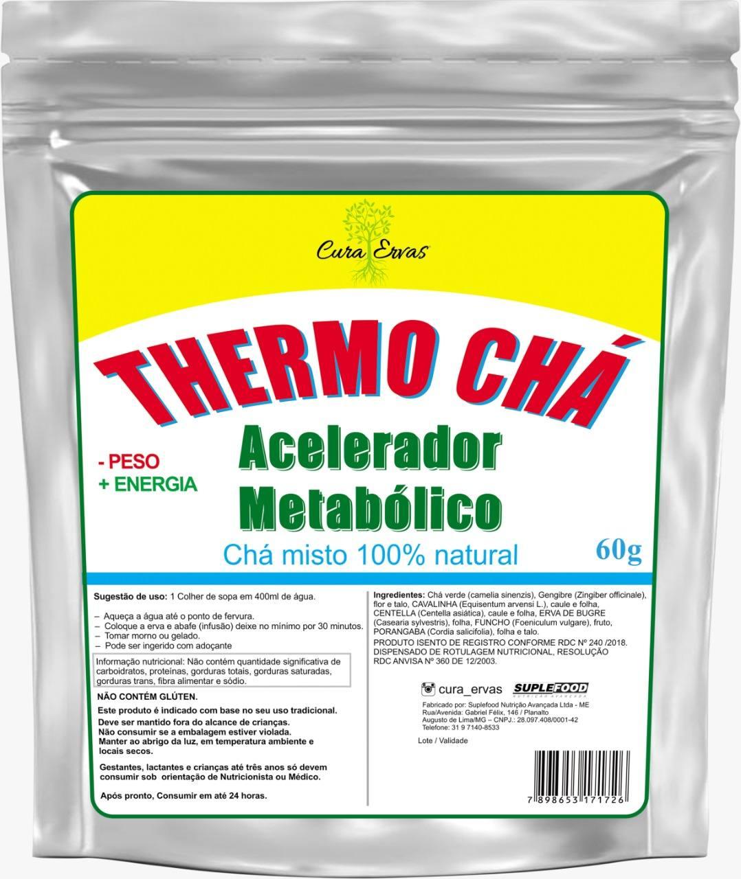 THERMO CHÁ -  60 gramas <br>Chás e Ervas - R$ 21,00