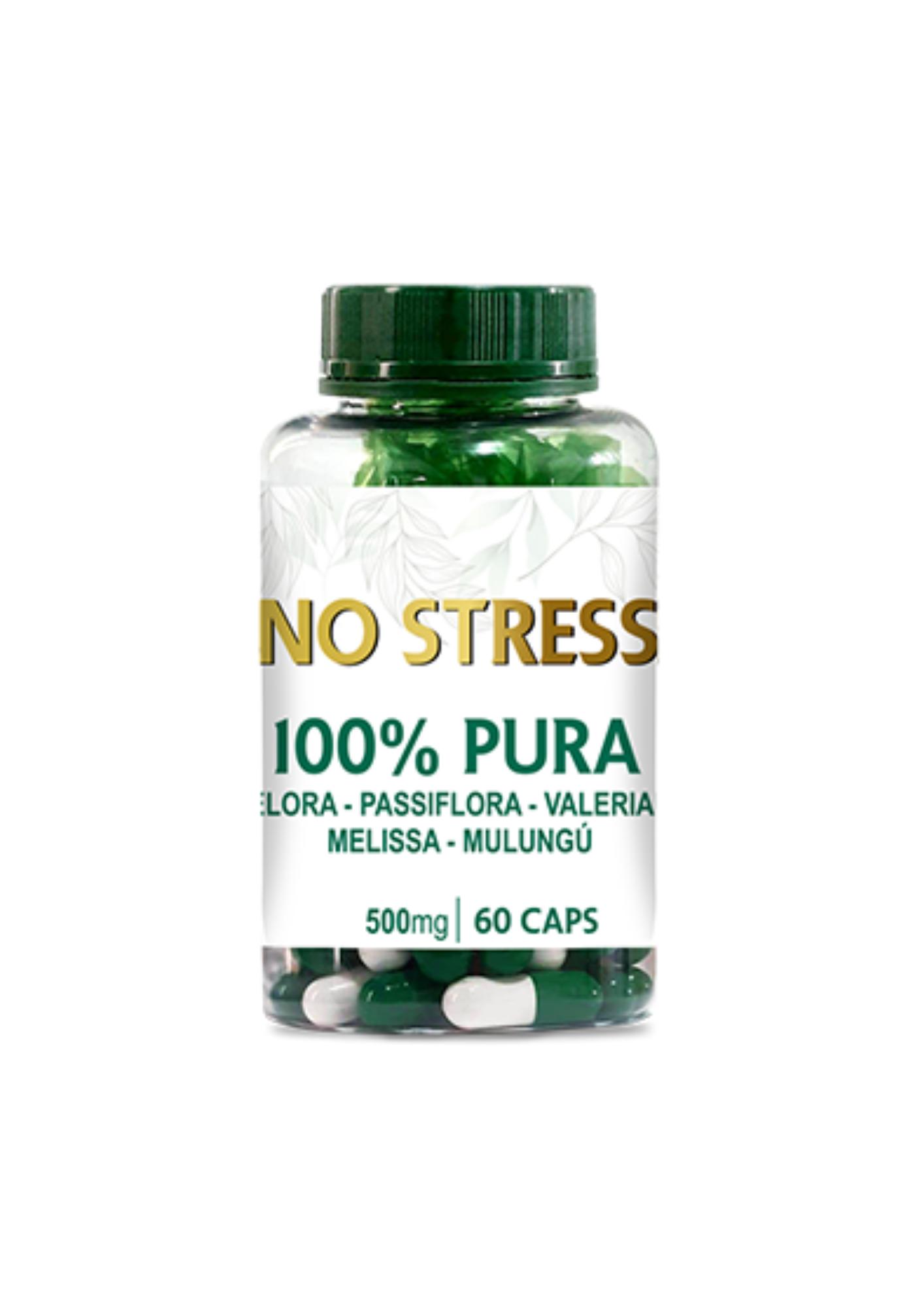No Stress 500mg - Cápsula Composta<br>Linha de Cápsulas Fitoterápicas - R$ 62,99