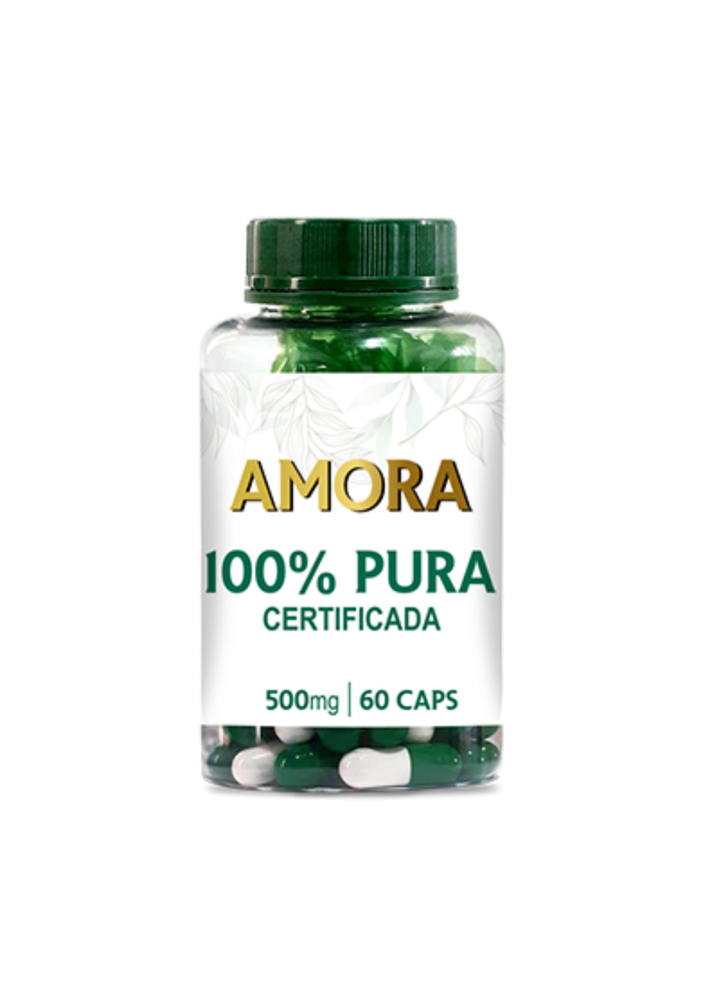 Extrato Puro de Amora 500mg<br>Linha de Cápsulas Fitoterápicas - R$ 47,25