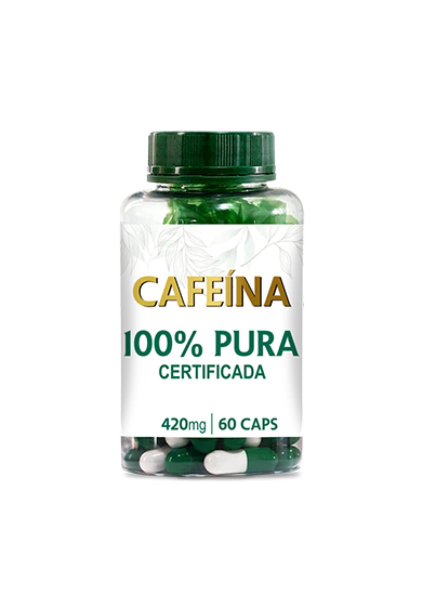 Extrato Puro de Cafeína 420mg<br>Linha de Cápsulas Fitoterápicas - R$ 31,50